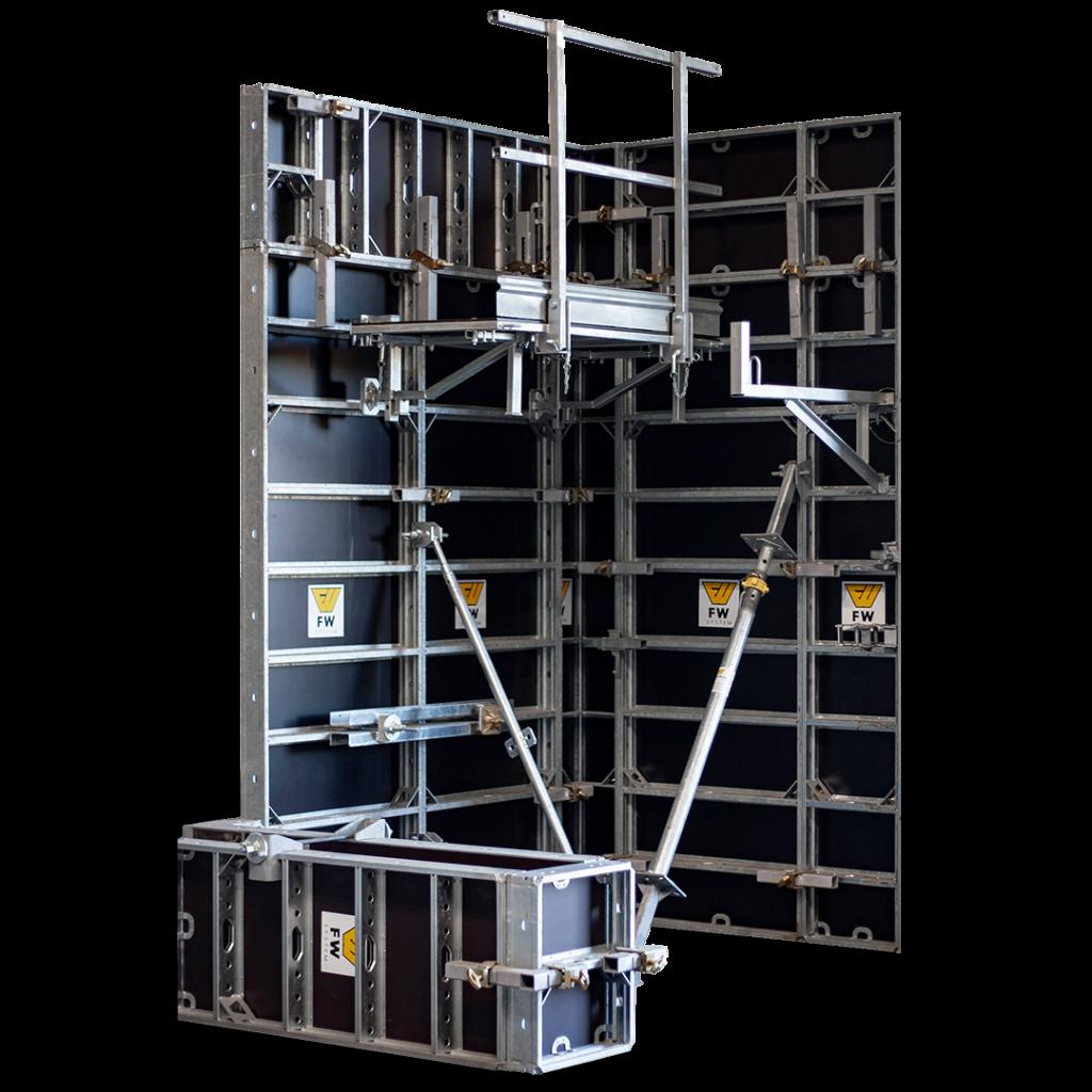 Systemowe podesty do szalunków- montaż