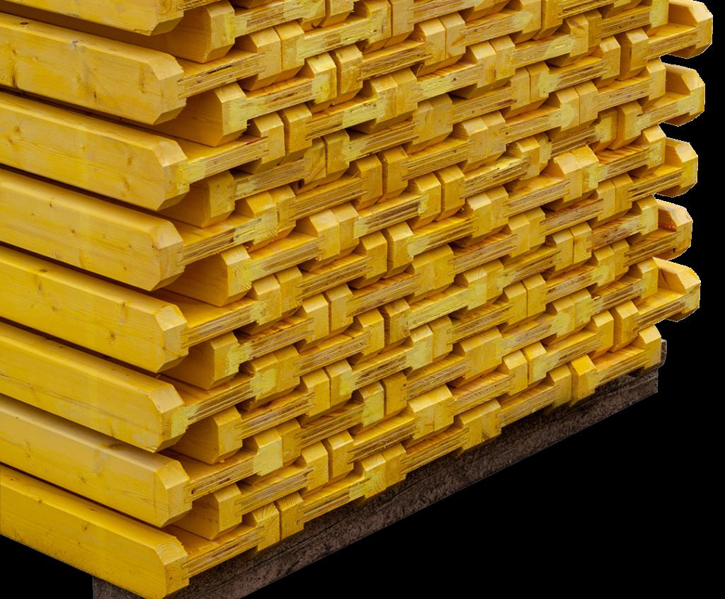 Dźwigar drewniany FW (nieokuty) widok z boku